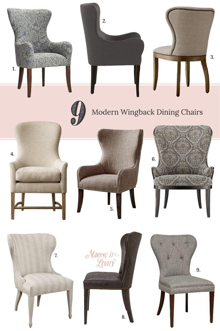 upholstered dining chairs ile ilgili pinterest'teki en iyi 25'den