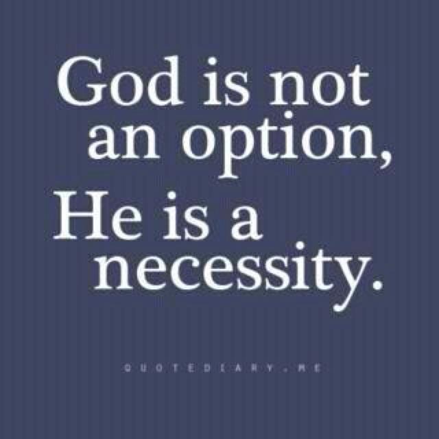 God is not an option