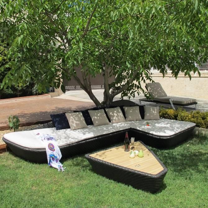 sof rinconera chaiselong y mesa centro para exteriores
