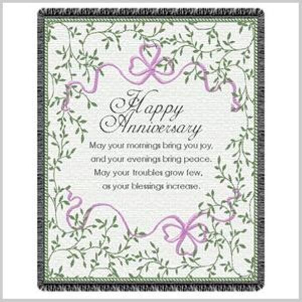 Irish Wedding Gift Ideas: Irish Anniversary Blessing Throw