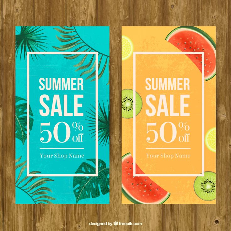 Summer Sale Banners - Vector Free for Freepik on Behance