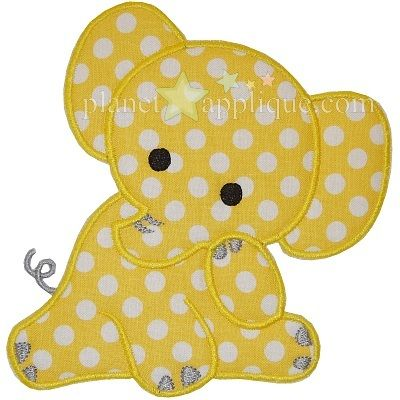 Baby Elephant Applique                                                                                                                                                                                 Más