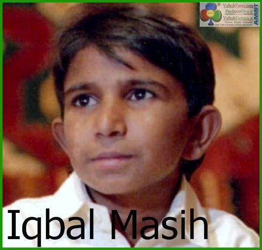 16 aprile Giornata Mondiale contro la Schiavitù Infantile: Grazie Iqbal Masih
