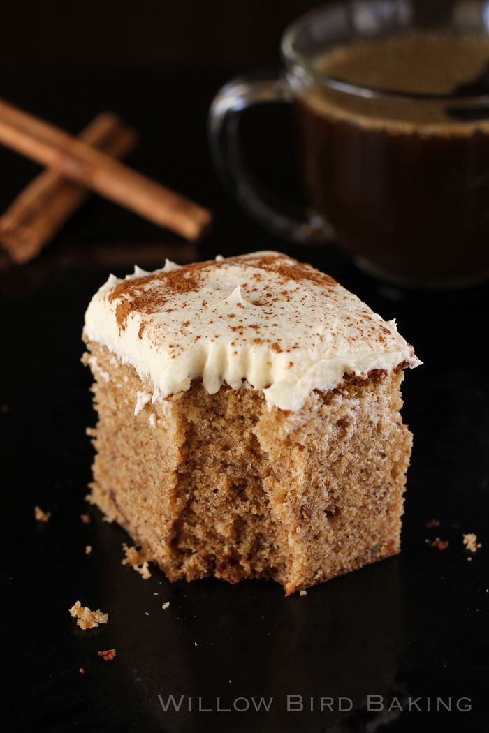 Brown Butter Spice Cake with Whipped Icing: a recipe for the perfect fall cake! Plus a video review of my first experience at an ALDI grocery store!