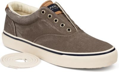 Sperry Striper CVO Salt Washed Twill Sneaker Chocolate, Size 10.5M Men's Shoes Extended Black Friday