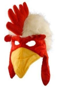 Adult Child Rooster Chicken Bird Hat Mask Beak Costume