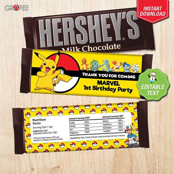 Hey, I found this really awesome Etsy listing at https://www.etsy.com/uk/listing/535704285/pokemon-candy-bar-herseys-wrapper