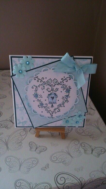 Birthday card made using liliofthevalley stamp