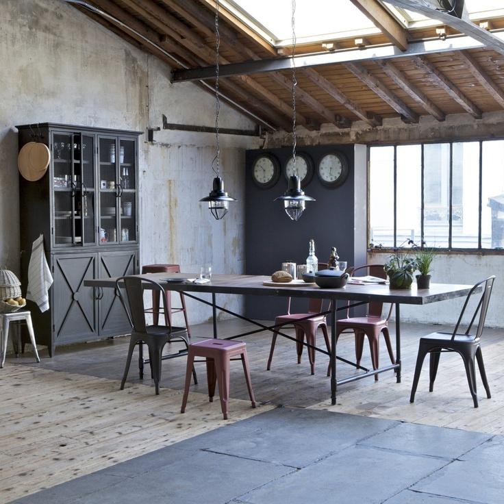 chaise tolix lot de 2 am pm la redoute d coration. Black Bedroom Furniture Sets. Home Design Ideas