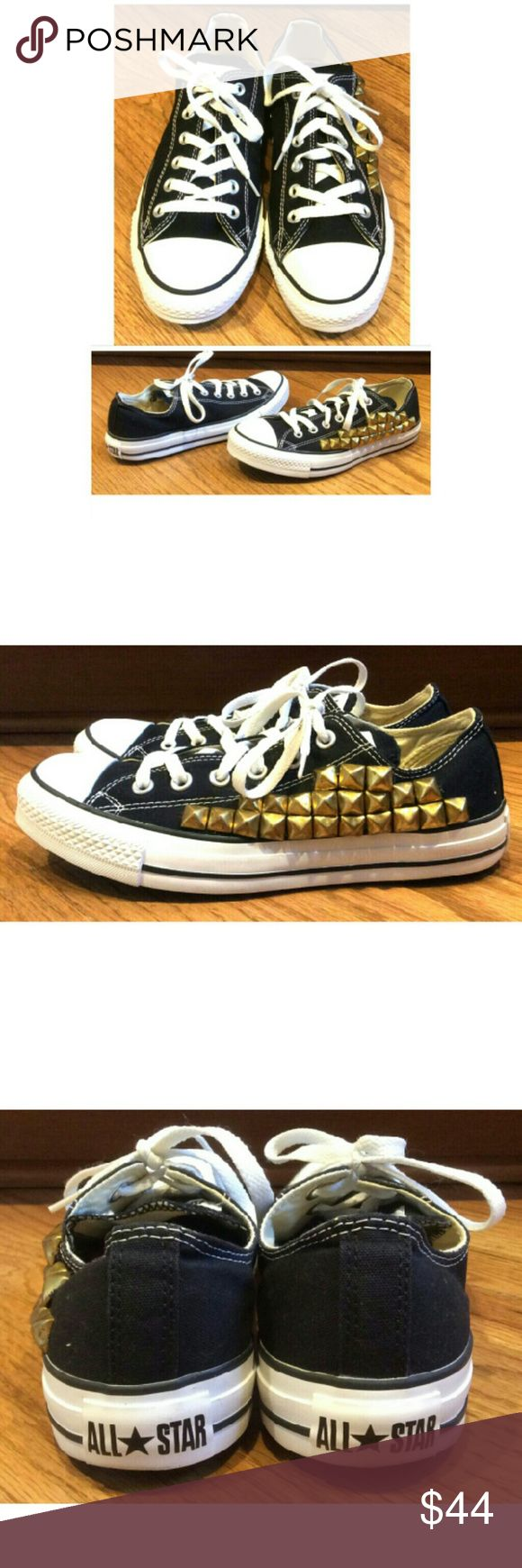 Walking dead converse shoes for sale -  New Studded Low Top Converse Sneakers