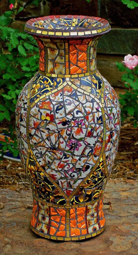 beautiful mosaic vase