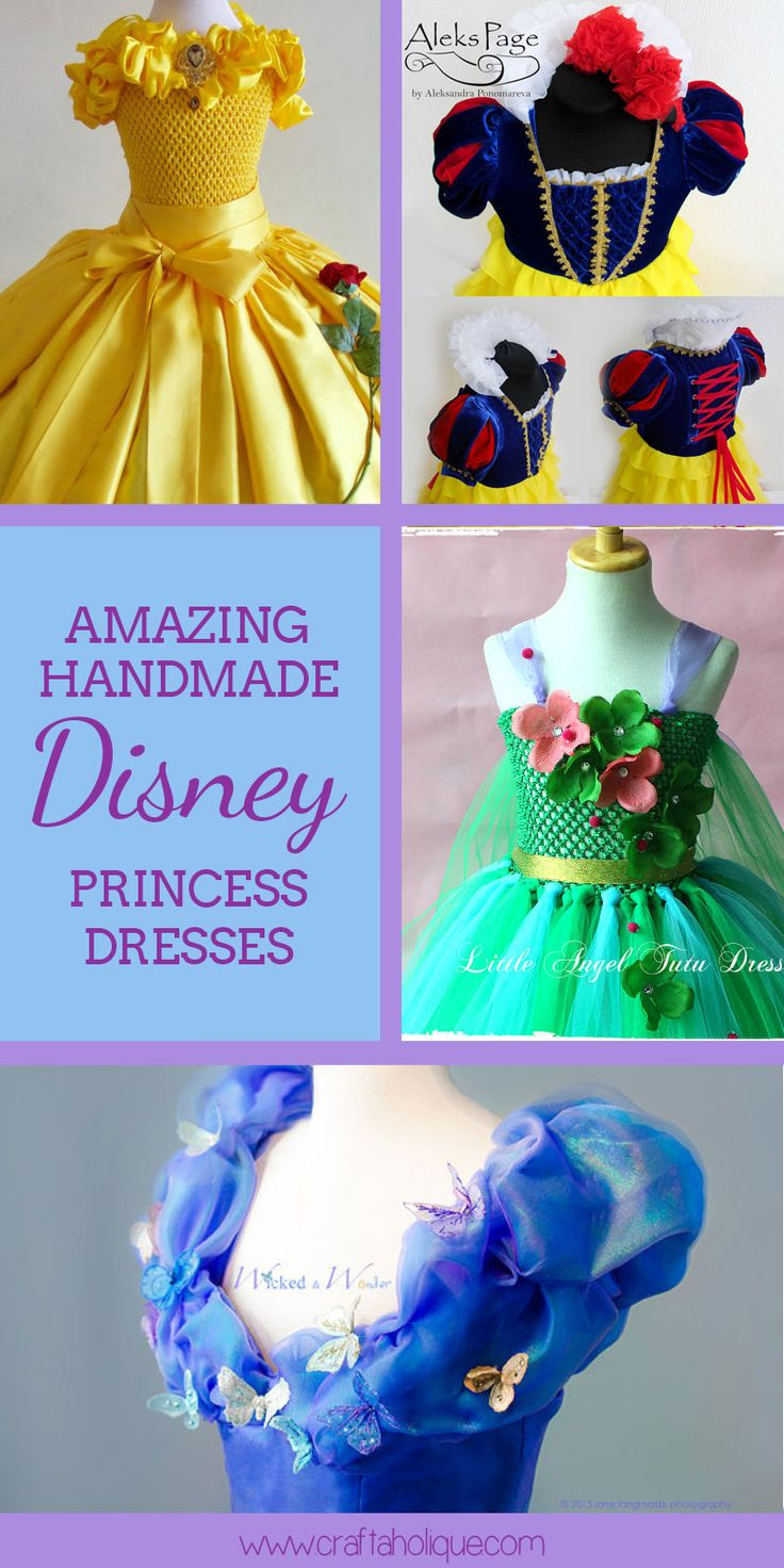 Looking for a Disney Princess Dress with a difference? Check out these incredible handmade Disney Princess Dresses from talented designers on Etsy.