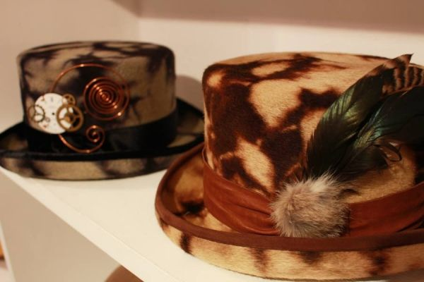 Steam punk top hat スチームパンクなトップハット。ファーベロア。#hat #tophat #Steampunk