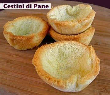 Cestini saporiti di pancarrè | Ricette Finger food