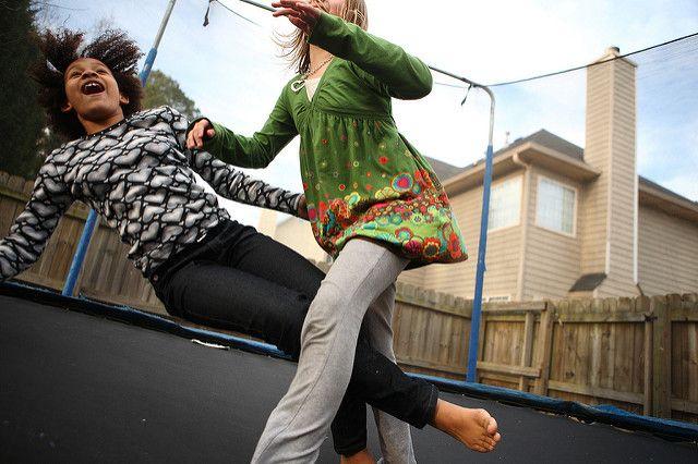 kids trampolining