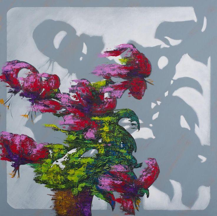 Obliterated Memory, 2012 by Hannu Palosuo. Oil on canvas, 150 x 150 cm. Price 8200€. Inquiries: sari.seitovirta@seitsemanvirtaa.com / GALERIE SEITSEMÄN VIRTAA