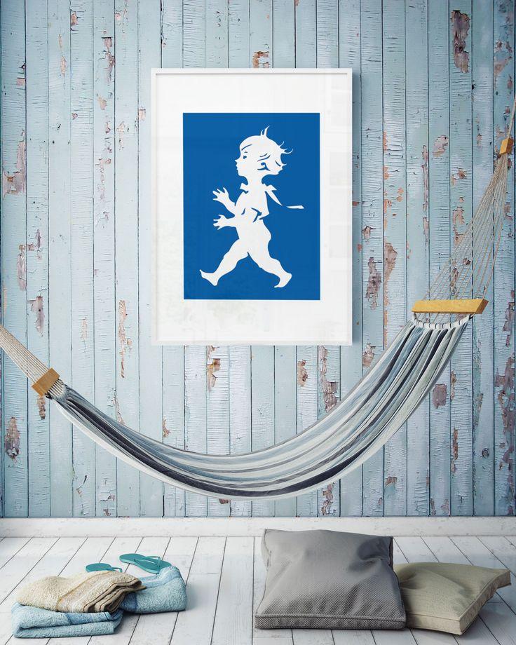 Poster-Blå