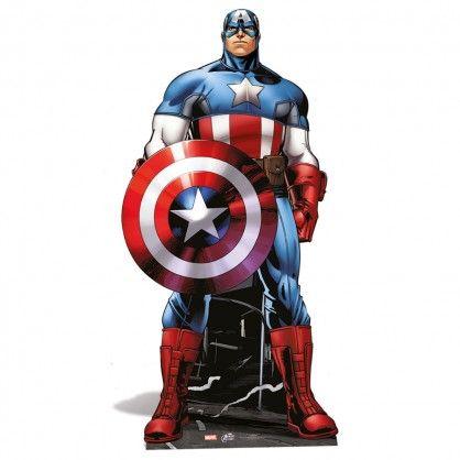 Captain America en silhouette géante carton par Cbodeco spécialiste des silhouettes en carton !