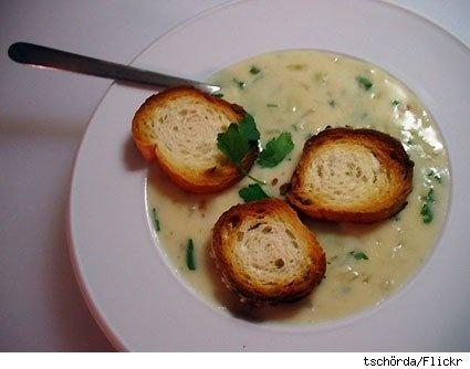 austrian garlic cream soup