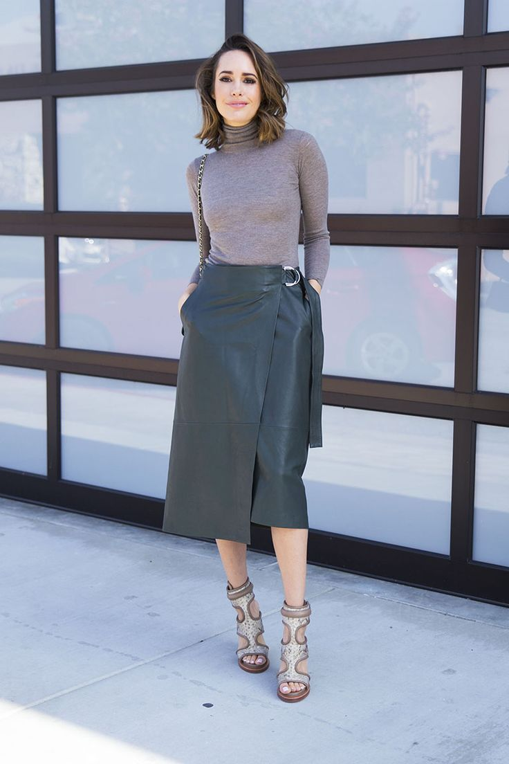 Louise Roe | How To Style a Midi Skirt | LA Streetstyle | Front Roe Fashion Blog