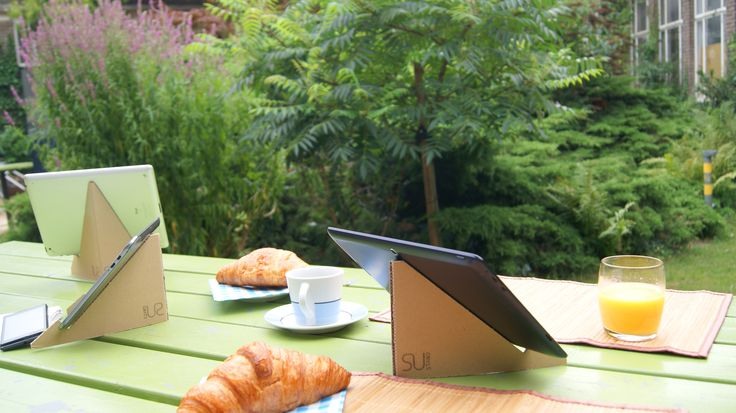 Use SUstand as a tablet stand for any tablet model and size out there