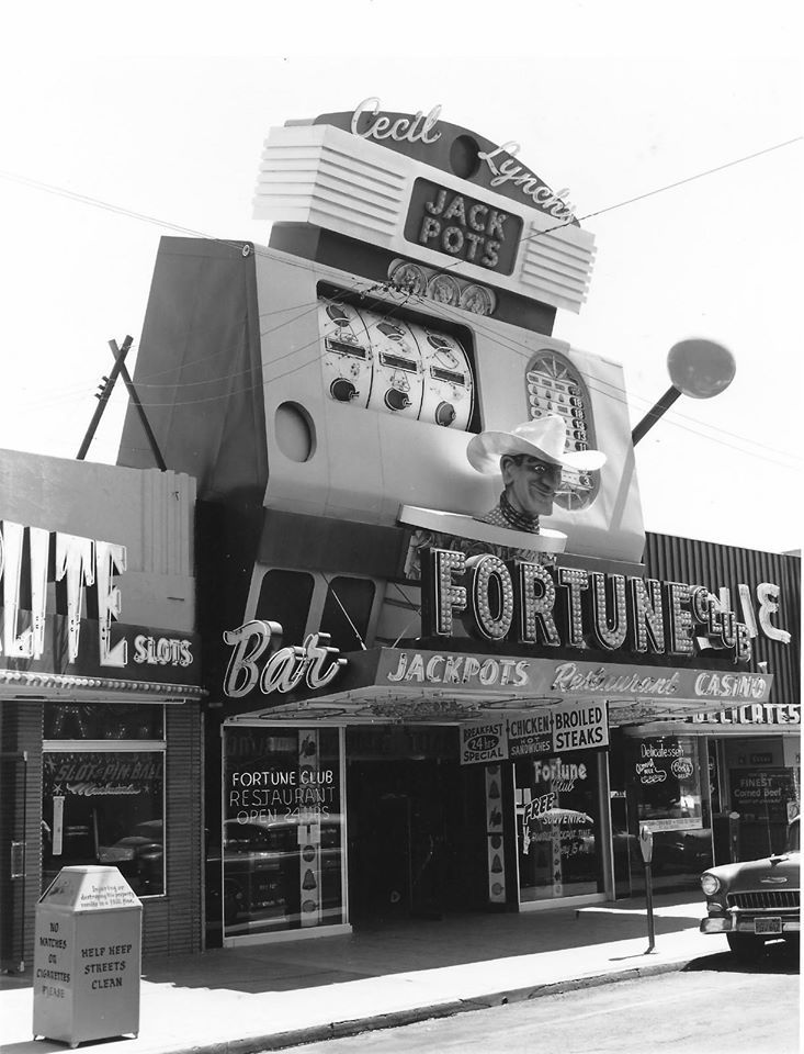 Fortune Club. Las Vegas, c.1958-60s. On Fremont Street where Glitter Gulch is today.