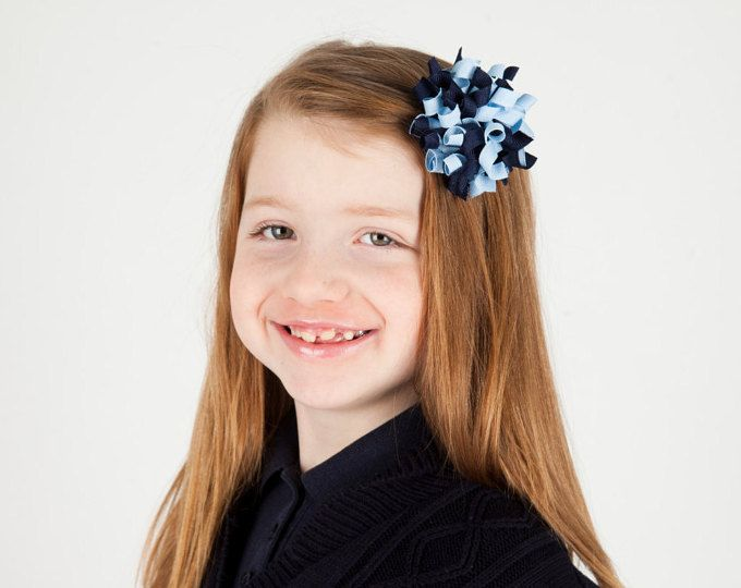 Marina luz azul arco del pelo del Korker - escuela uniforme pelo, arco del pelo uniforme de escuela de la Armada, arco del pelo del Korker, arcos cabello azul marino, uniforme escolar