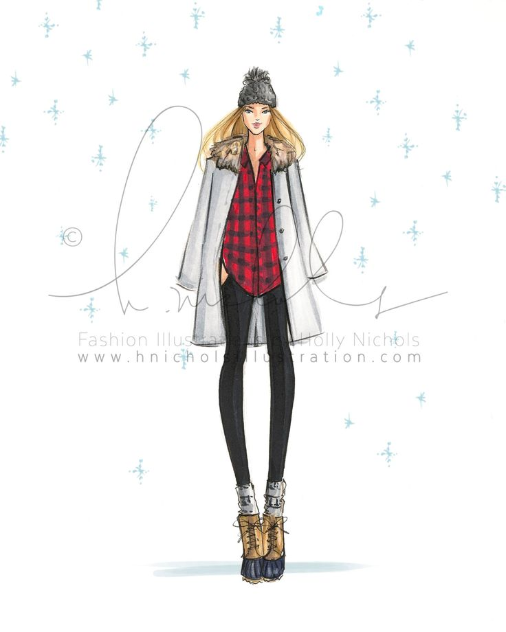 Lianna The New Englander Set of 10 Fashion by HNIllustration