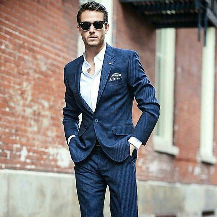 Tieless suit inspiration. @iamgalla #menwithclass #mensclothing #suit #ootd #mensfashion #blue #styleguide #men by rmrstyle
