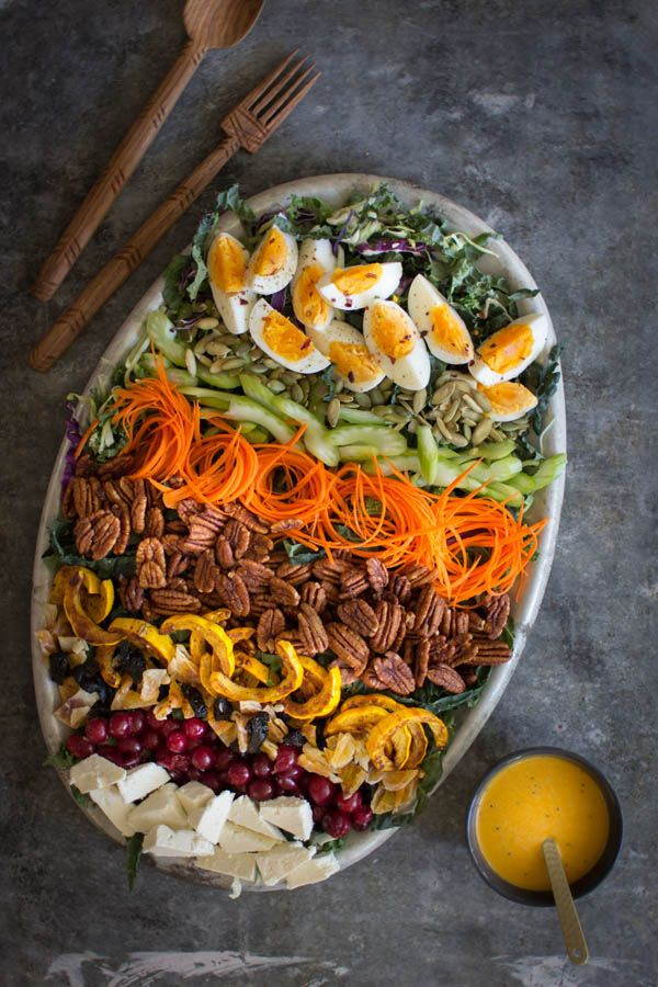Autumn Cobb Salad with Turmeric Poppy Seed Dressing | Be warned, this salad is addictive! | @beardandbonnet