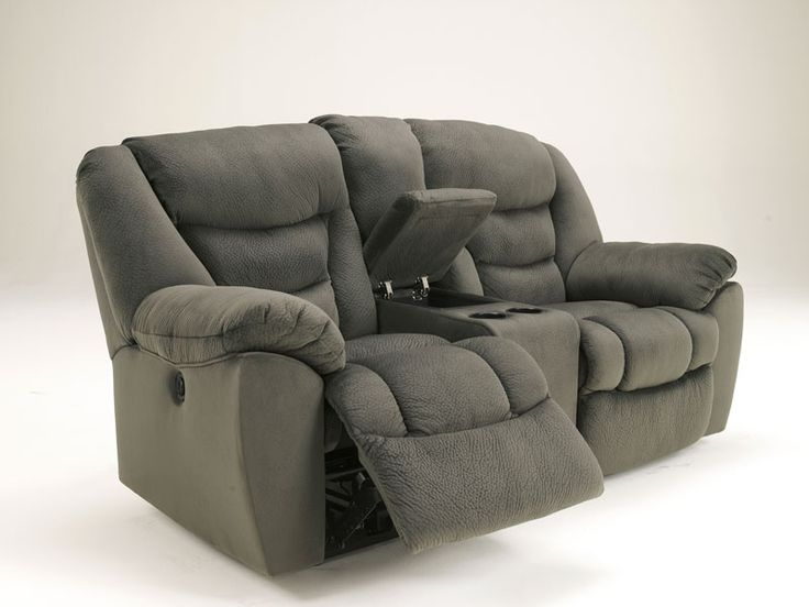 Celano Modern Pewter Microfiber Recliner Sofa Couch Set