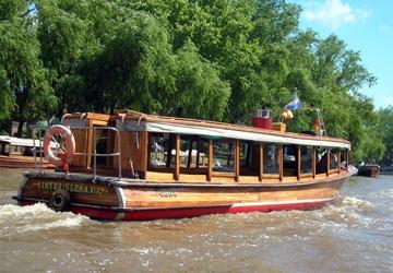 The boat tours at El Tigre, BA, Argentina