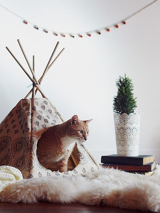 Printed Cat Teepee at Free People Boutique