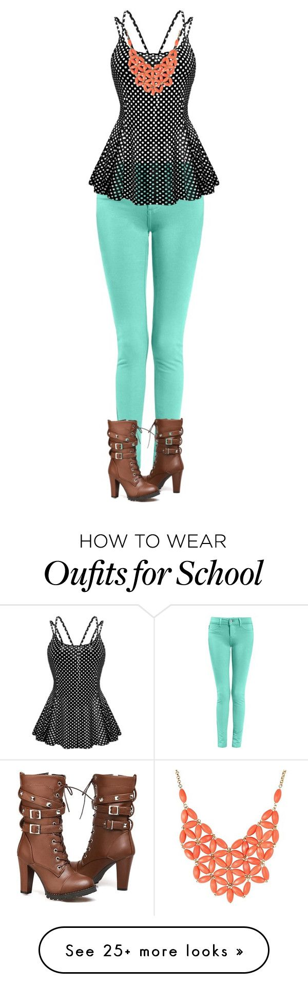 """Casual school outfit"" by jociebean on Polyvore"