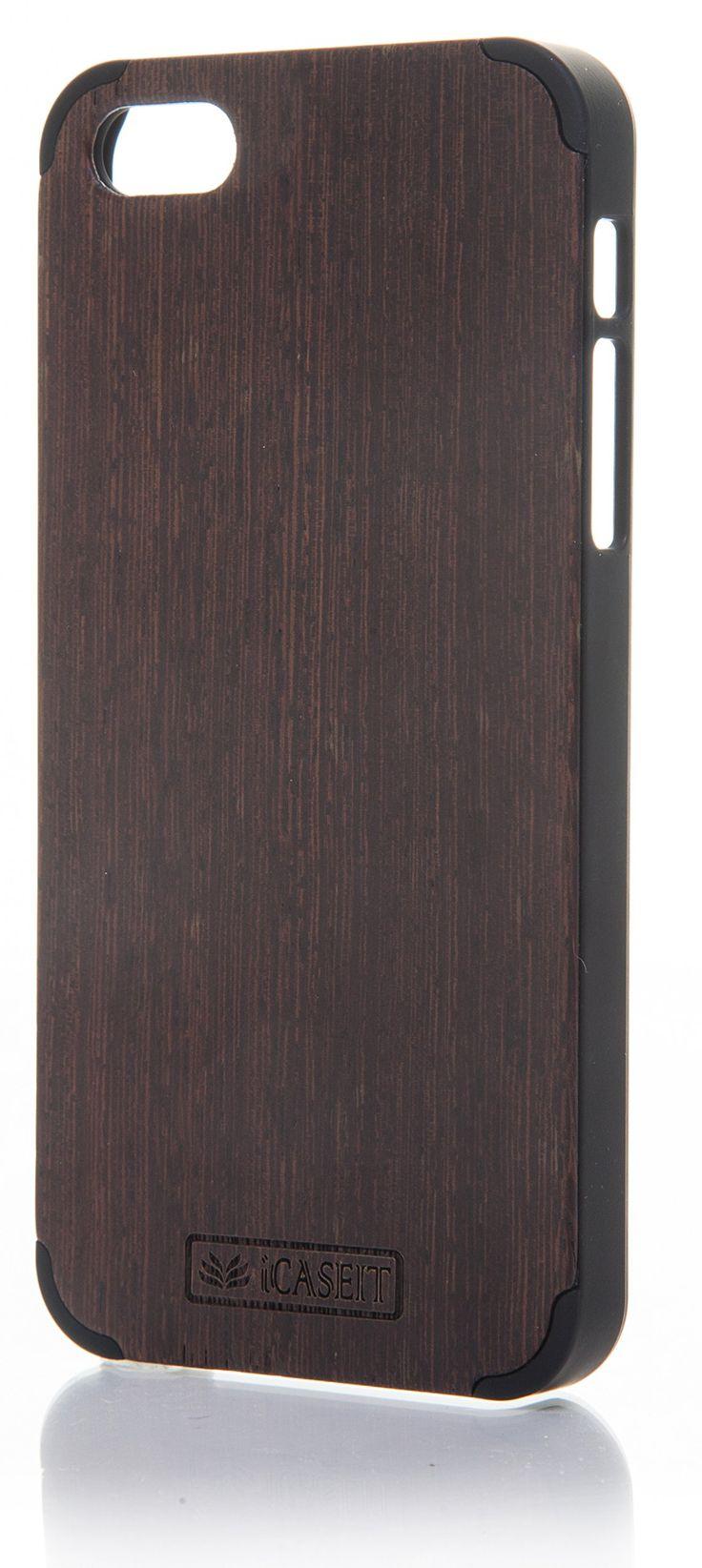 iCASEIT Wood iPhone Case - Genuinely Natural, Unique & Premium quality for iPhone 5 / 5S - Wenge / Black: Amazon.co.uk: Electronics