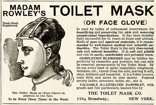 Madam Rowley's Toilet Mask Advertisement , c.1875 #victorian #advertising