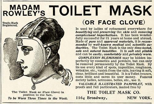 Madam Rowley's Toilet Mask Advertisement , c.1875 #victorian #advertising