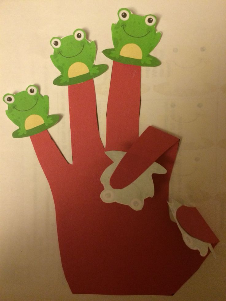 Bendy hands with frogs on- show Me, number bonds, one less and one more, addition, subtraction