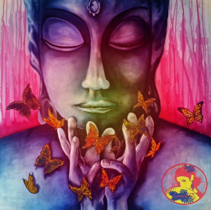 the awakening of Buddha_13#canvas#acrylic#digitalretuch