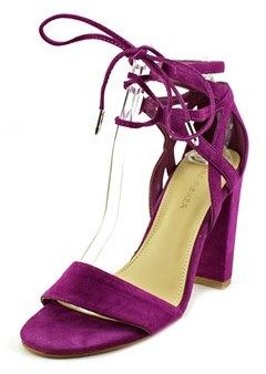 Marc Fisher Fatima Women Open Toe Suede Purple Sandals.