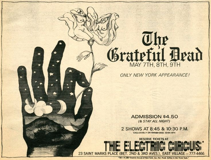 The Dead at the Electric Circus NYC May 7-9, 1968.