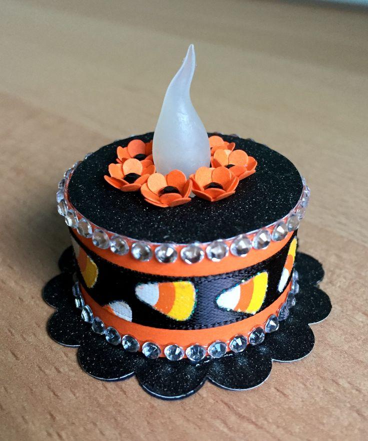 halloween tea light cake