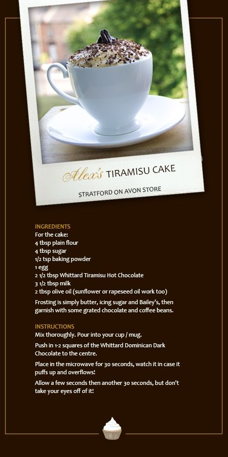 Alex's Tiramisu Cake from our Stratford on Avon store, made with our tiramisu hot chocolate and decorated with our Dominican chocolate.