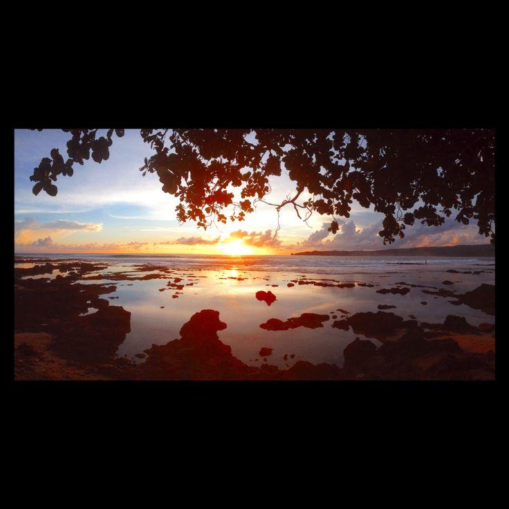Sunset at Sawarna beach
