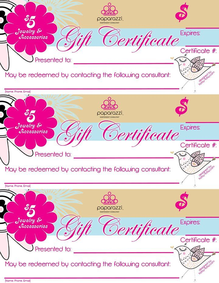 Gift certificate paparazzi for Craft direct promo code