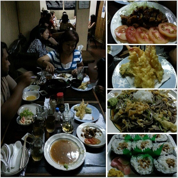 #staminayaki#tenpura#oroshisoba#nattoumaki#californiamaki#sukiyaki#kanisalad#sanmig#light#beer#スタミナ焼き#天ぷら#おろしそば#納豆巻#カリフォルニア巻#すき焼き#カニサラダ #yummy#japanese#food#restaurant#noodle#philippines#フィリピン