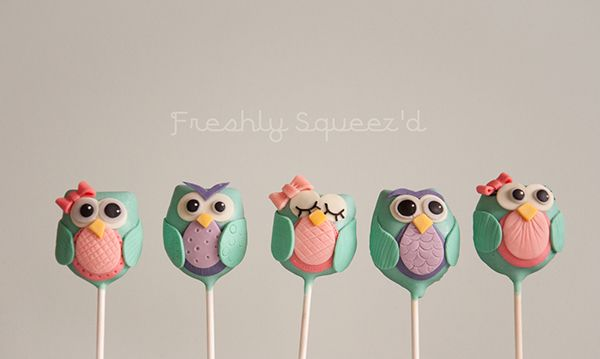 Sweet little teal and purple owl Cake Pops on my Behance Portfolio. Check out…