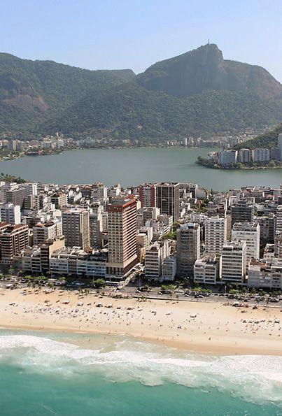 praia de Ipanema e Lagoa Rodrigo de Freitas -Rio de Janeiro