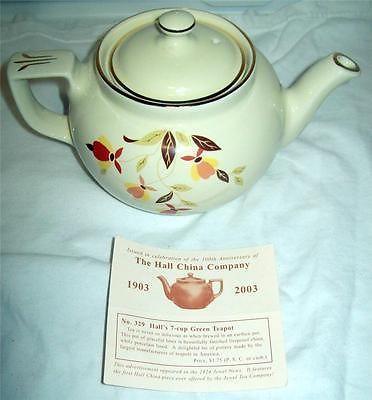 Jewel Tea Hall Autumn Leaf Boston Tea Pot 2003