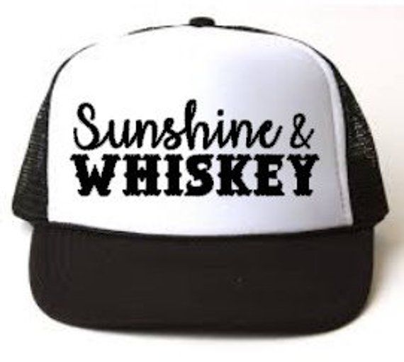Sunshine and Whiskey Womens Trucker Hat || Trucker Hat, Womens Hat, Vacation, Vacay, Beach Hat, Coun – Products